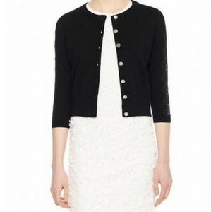 《 Karl Lagerfeld 》 Cropped Lace Cardigan